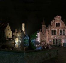 Ночные сказки старого Брюгге. / Панорамная съемка.