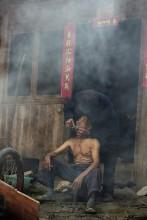 barber shop / уличная парикмахерская по-китайски