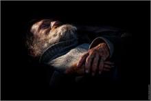 Сон бродяги. / Подражание Рембрандту.