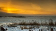 Закат на морозе / Северодвинск