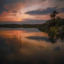 Отражение / река Берда.Запорожская обл.