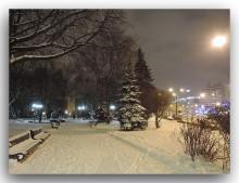 Первый снег / Вечерний Минск
