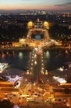 Вечерние огни Парижа II / Вид с Эйфелевой башни