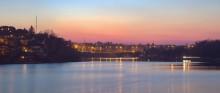 Без названия / Киевский мост, церковь Святой Ксении Петербургской, р. Южный Буг, г. Винница