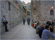 Иерусалим / Перед храмом Гроба Господня