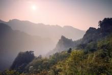 / Закат в уданских горах.