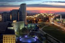 симфония вечернего города / Минск с высоты полета совы