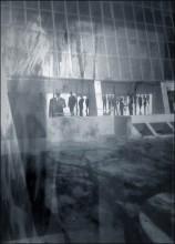 всё смешалось / Снято мобильным телефоном сквозь грязное стекло автобусной остановки в Рамат-Гане (Израиль)