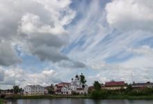 Небо над Поставами / Вид на центр города Поставы и облака на небе с противоположного берега озера. Снято с того, места, рядом с которым находится костел.  https://vk.com/mikalai_nikitsin