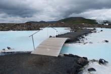 / Возле Голубой лагуны Исландии.