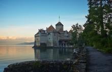 Шильонский замок (Château de Chillon) / Утренний Шильонский замок
