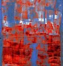 Квадрат / Неизвестный маляр, металл, масляная краска, ржавчина.