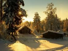 Таёжная глухомань... / Деревня в зимнее время...