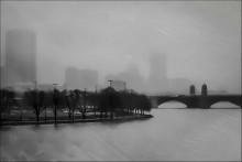 акварель дождя / Бостон.