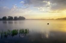 / Утро. Озеро в г. Слониме.