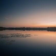 / озеро, закат