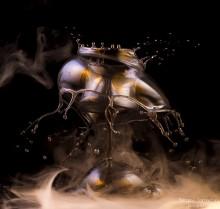 Всплеск - осьминог / Высокоскоростная съемка  http://prophotosite.com/