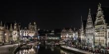 Вечерняя жизнь набережной Граслей / Гент, Бельгия. Лучшее место, чтобы насладиться бельгийским пивом и полюбоваться архитектурой.