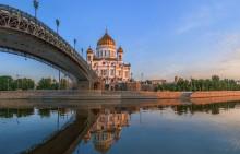 Храм Спасителя на рассвете. / Москва.