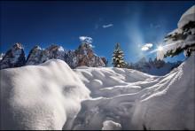 Мысли о зиме / Доломитовые Альпы, Италия.