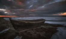 У замерзшего залива / Азовский берег-Бердянский залив
