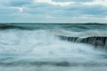 Море краской / Зимнее море