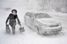 Снегопад... / Снегопад. Одесса.