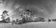 Зимний вечер в Переделкино / Москва. Переделкино. Храм святого князя Игоря Черниговского