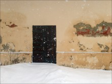 / снег стена