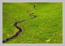 Wrong Way / Ручей, бегущий человек, осень