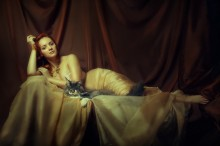 / модель Анна и кот валера