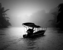 """Утро на р.Квай"" ЧБ / 2013 г Таиланд"