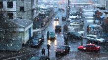 / хлопья снега в начале марта