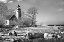 Старый маяк / Заброшенный маяк на берегу Куршского залива.