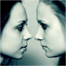 Reflection / Фотомодели Татьяна и Елена