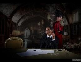 Писатель и его муза / Проектное фото Сделано параллельно с проектным видеороликом