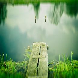 [Quiet Water] / Nikon D90, Nikkor 18-105mm, 18mm, f4.5, 30sec, iso200, welding glass filter, CS5