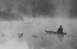 """Утро. / Из серии """" Мигеевские рыбаки."""" Национальный природный парк"""" Бугский Гард."""" Украина."""