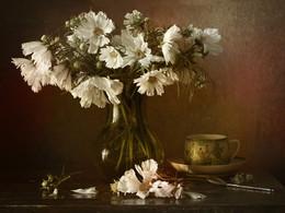 С белой космеей... / Любимые цветы...