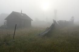И голосили третьи петухи ... / Туманное утро в деревне ...