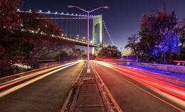 Verrazano bridge, NY / F-4.5,ISO-200, Shuter speed 8s. Time 6PM.