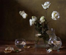 Косточка лайма / Натюрморт с розами