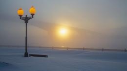 Бывали и такие зимы / Ярославль, набережная Волги.