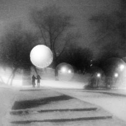 прогулка / монокль. декабрь, вечер.