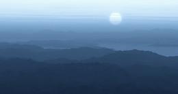 Синева гор... / восход в горах