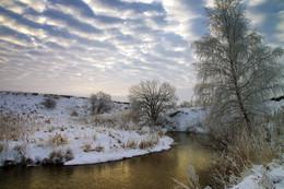 Рассвет,туман / Зимнее рассветное утро.