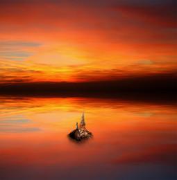 Остров Моря отражений... / Работа сделана из моих фотографий отснятых в разных местах и разное время... Сводилось в PS CC..