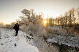 Рассвет,туман,иней.. / На зимнем пленэре...