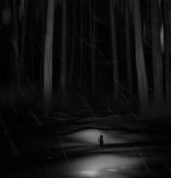 Вечер в лесу... / Работа сделана из моих фотографий отснятых в разных местах и разное время... Сводилось в PS CC..