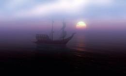 Морские путешествия... / солнце над морем